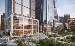 The exterior view of Hudson Yards