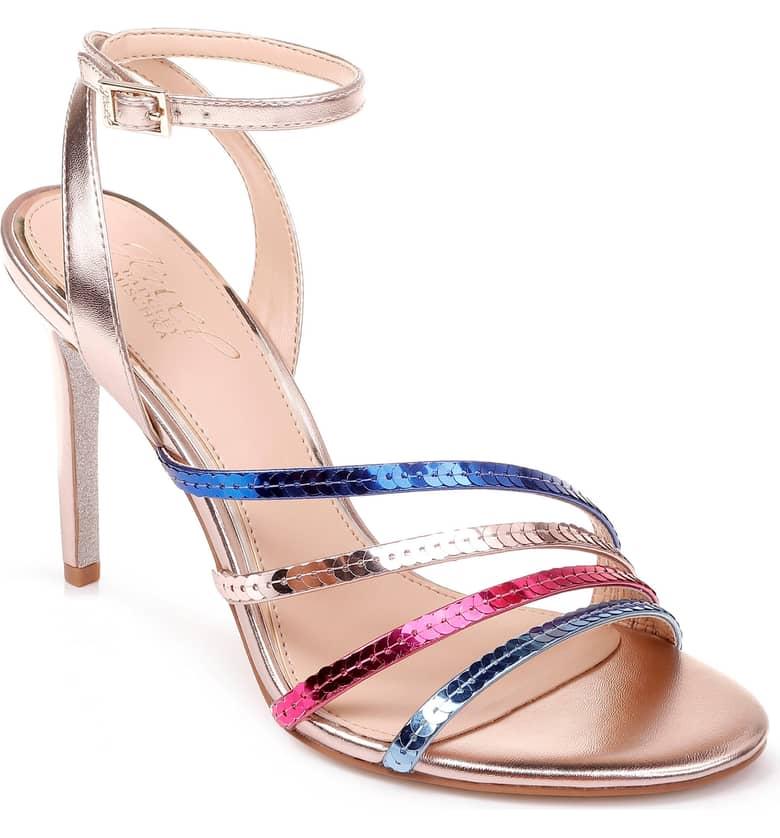 Jewel Badgley Mischka Devonee Sequin Sandal