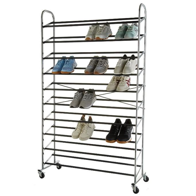 Amazon Basics 50-Pair Shoe Rack Organzier, shoe shelves