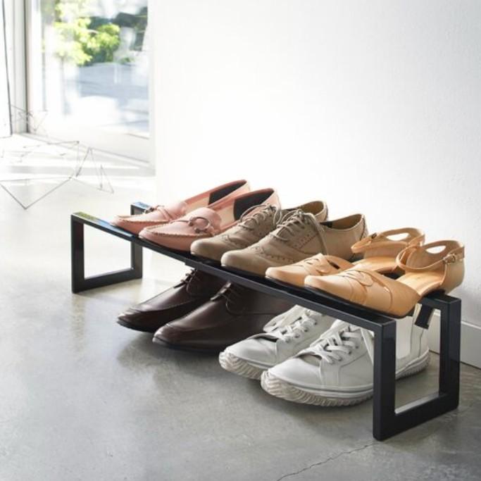 Yamazaki Home Line Adjustable 6 Pair Shoe Rack, shoe shelves