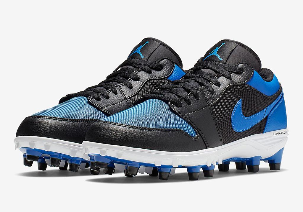 Jordan 1 TD Low, Football Cleat, Blue, Air Jordan 1