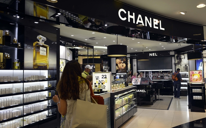 A Chanel store in an airport