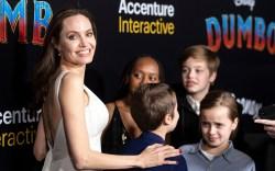 Angelina Jolie and her children arrive