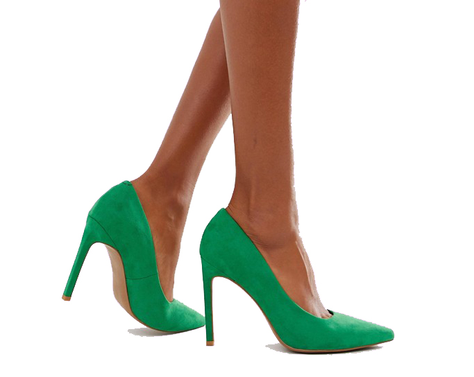 Asos Design Porto pointed high heeled pumps in emerald green