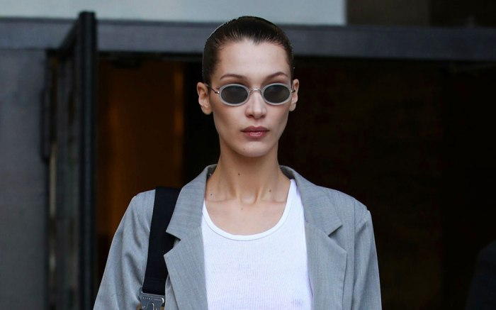 Bella Hadid, celebrity style, suit, paris fashion week, street style