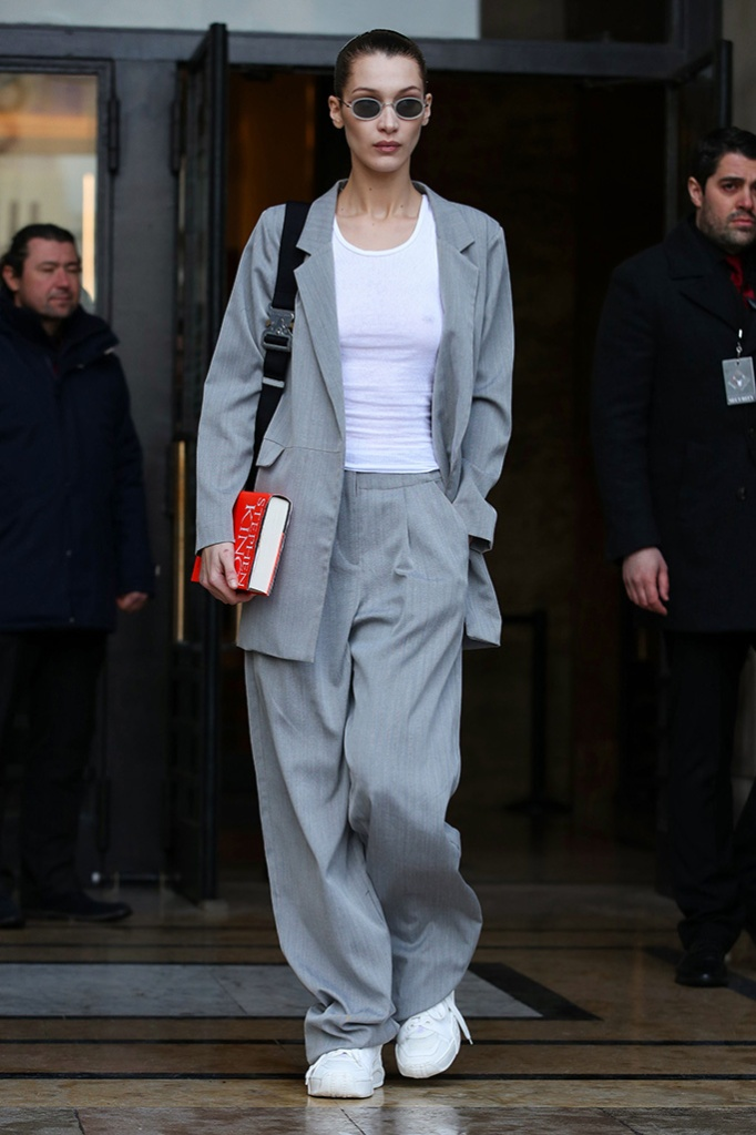 Bella Hadid, pfw, street style, celebrity style, Bella Hadid out and about, Paris Fashion Week, France - 02 Mar 2019