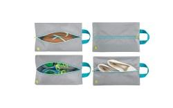 mDesign Water-Resistant Shoe Travel Storage Bags