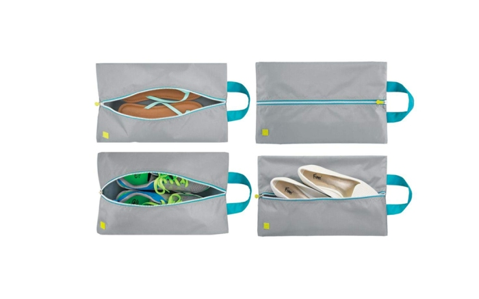 mDesign Water-Resistant Shoe Travel Storage Bags