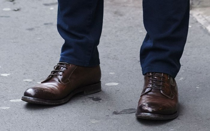 A pair of men's shoes spotted during London Fashion Week Men's