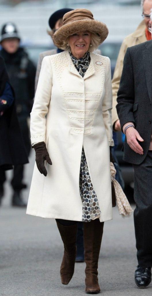camilla, duchess of cornwall, cheltenham ladies day