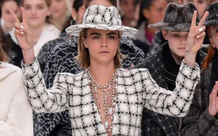 Cara Delevingne closing out Chanel fall '19.