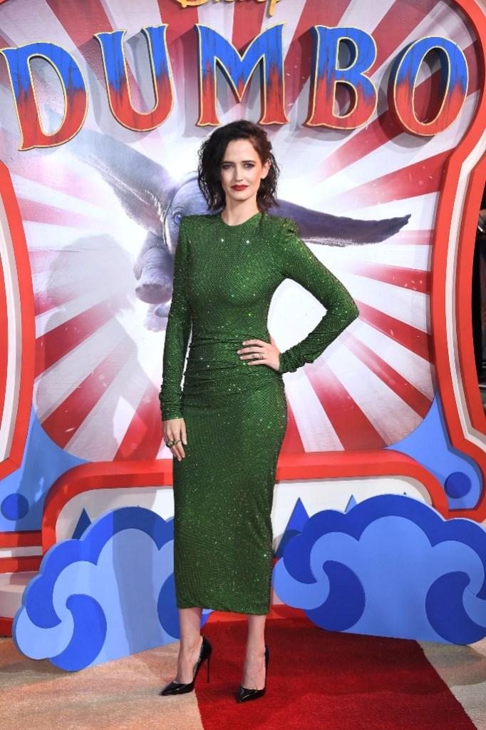 eva green, louboutin, Alexandre Vauthier, dumbo, green dress