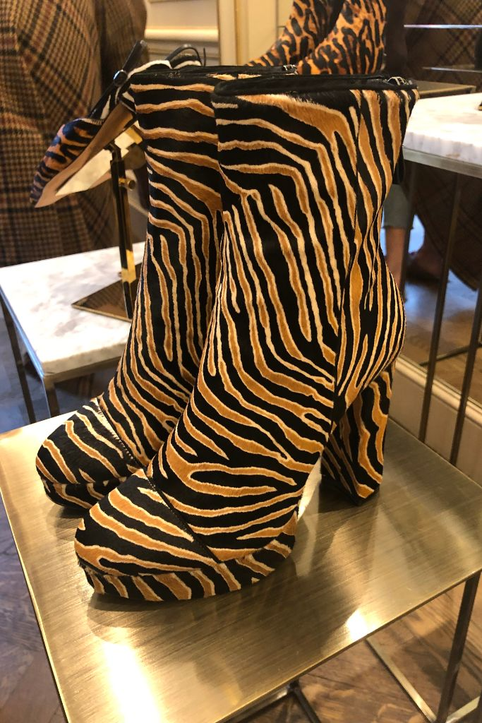 Alexandre Birman, fall 2019 trends, tan zebra boots