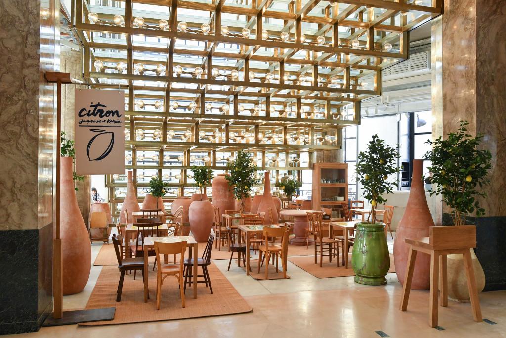 The Citron café designed by Simon Porte Jacquemus with Caviar Kaspia.