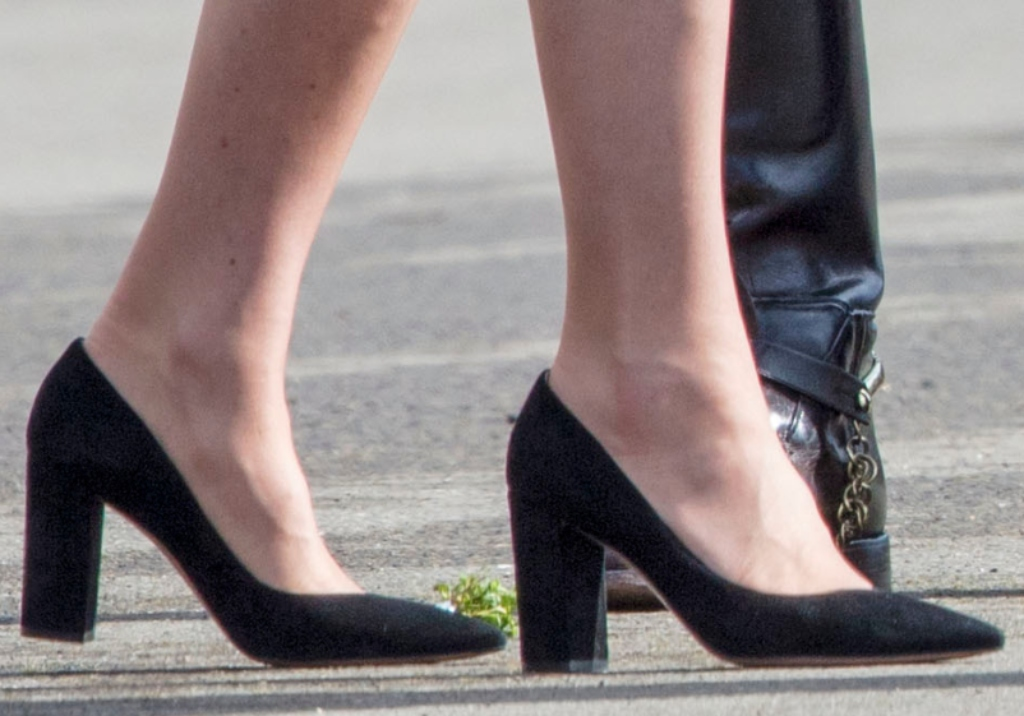 kate middleton, st. patrick's day parade, black Piper suede pumps