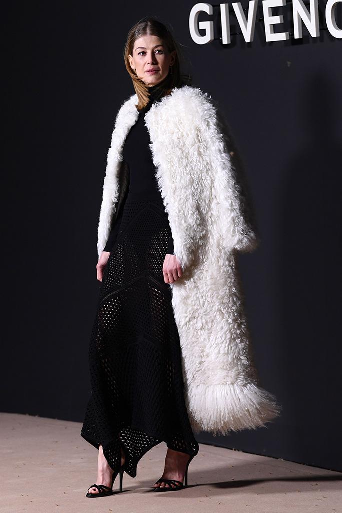 Rosamund PikeGivenchy show, Arrivals, Fall Winter 2019, Paris Fashion Week, France - 03 Mar 2019