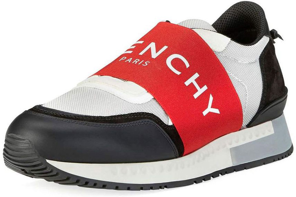 Givenchy logo'd sneakers with a red band