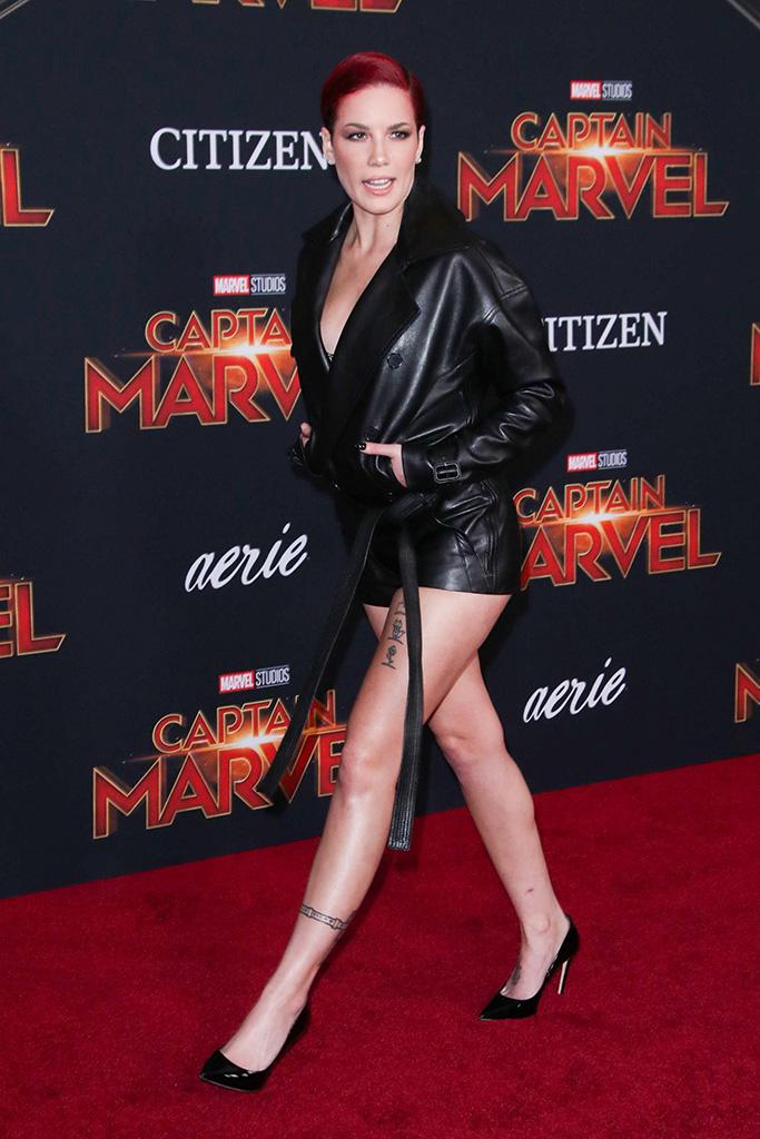 Halsey, 'Captain Marvel' film premiere, Arrivals, El Capitan Theatre, Los Angeles, USA - 04 Mar 2019