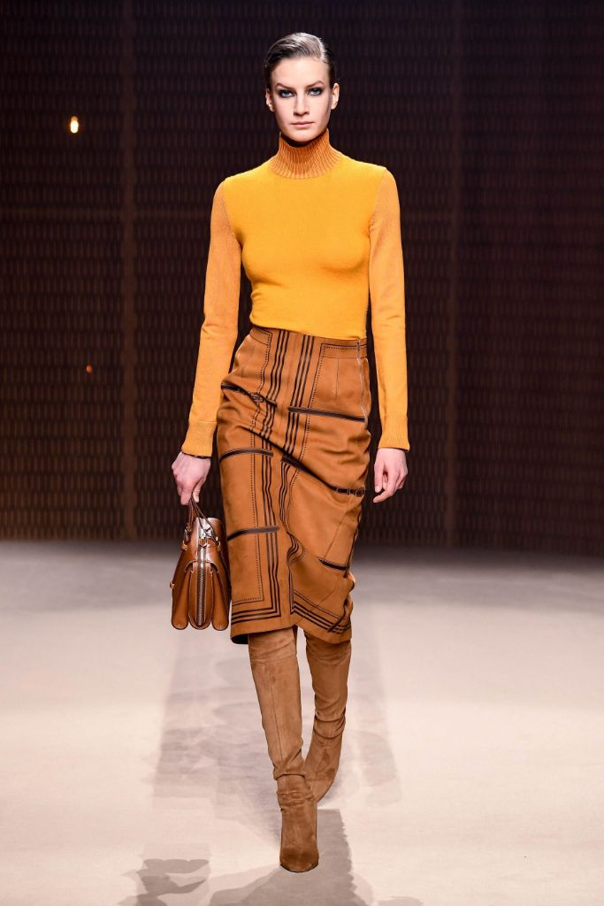 Hermes, fall 2019 trends, brown suede boots
