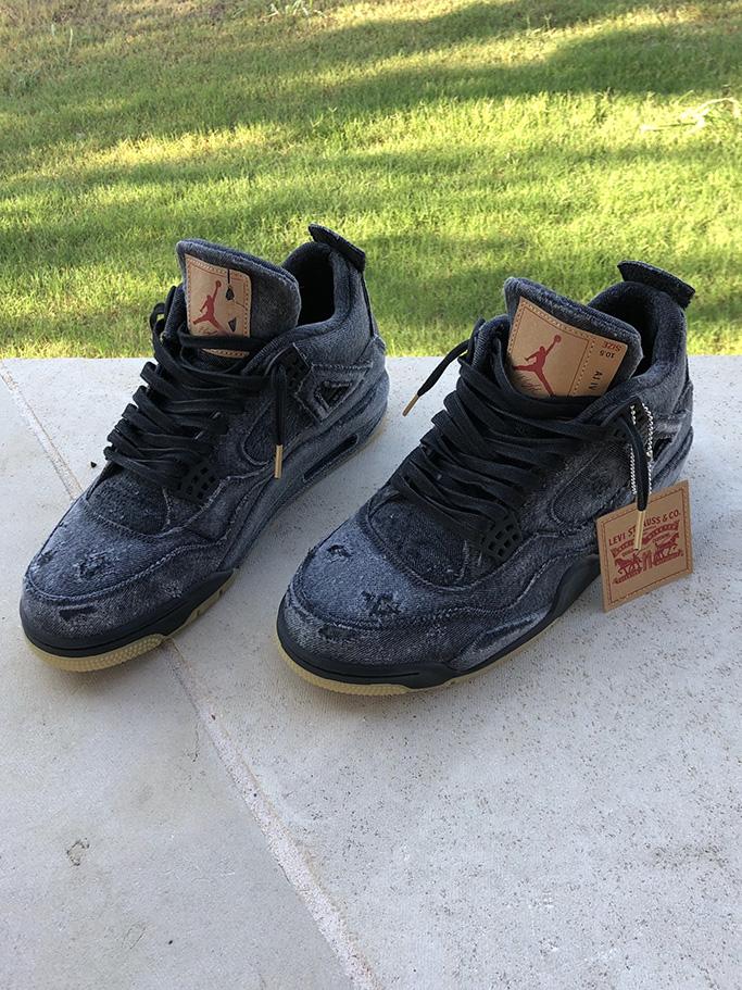 Richard Rawlings' Levis' x Air Jordan sneakers