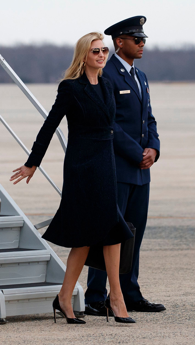 Ivanka Trump, the daughter of President Donald Trump, arrives on Air Force One, at Andrews Air Force Base, Md., en route to Washington as the family returned from Palm Beach, FlaTrump, Andrews Air Force Base, USA - 10 Mar 2019