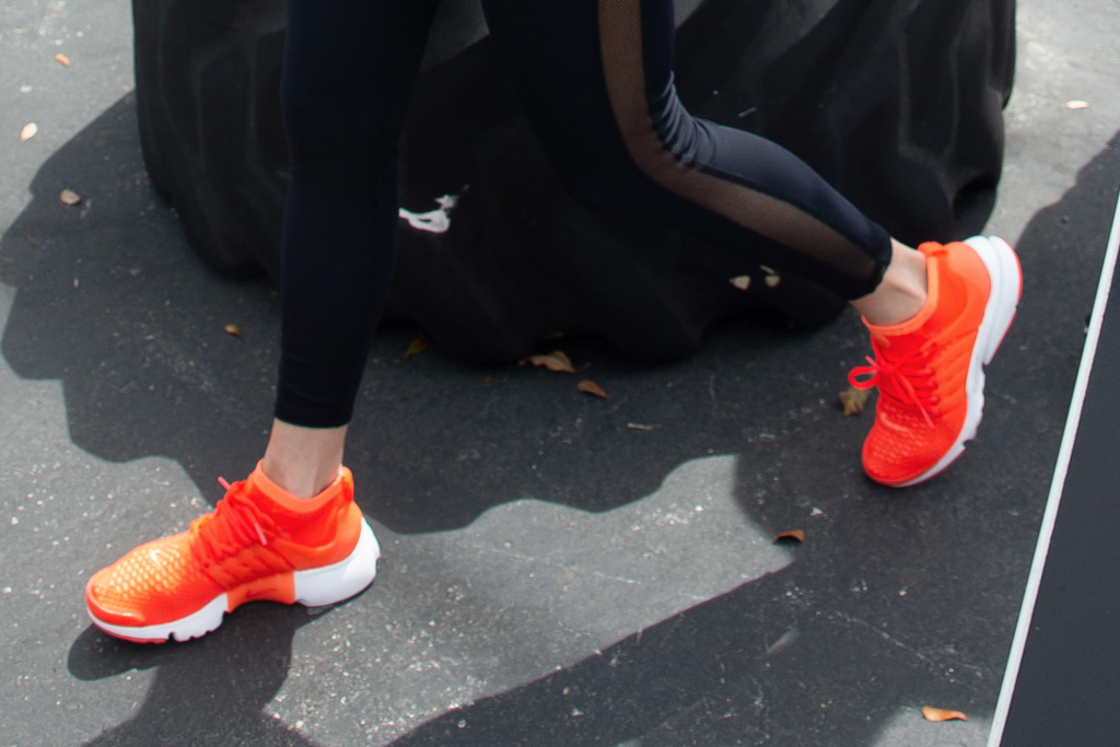 jennifer lopez, jlo, arod, alex rodriguez, miami, nike air presto, orange sneakers, leggings