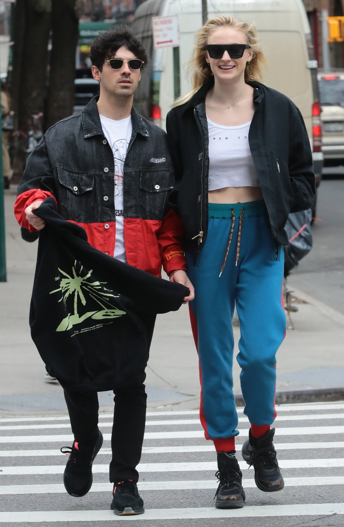 joe jonas, sophie turner, louis vuitton archlight sneakers, adidas