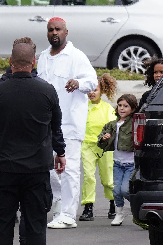 Kim Kardashian, Khloe Kardashian, and Kourtney Kardashian leave Kanye West?s Sunday church servicePictured: Kanye WestRef: SPL5069370 030319 NON-EXCLUSIVEPicture by: Shotbyjuliann / SplashNews.comSplash News and PicturesLos Angeles: 310-821-2666New York: 212-619-2666London: 0207 644 7656Milan: 02 4399 8577photodesk@splashnews.comWorld Rights