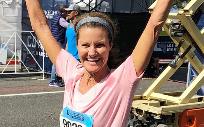 senior vice president of Skechers Global Product, kathy kartalis, la marathon 2019