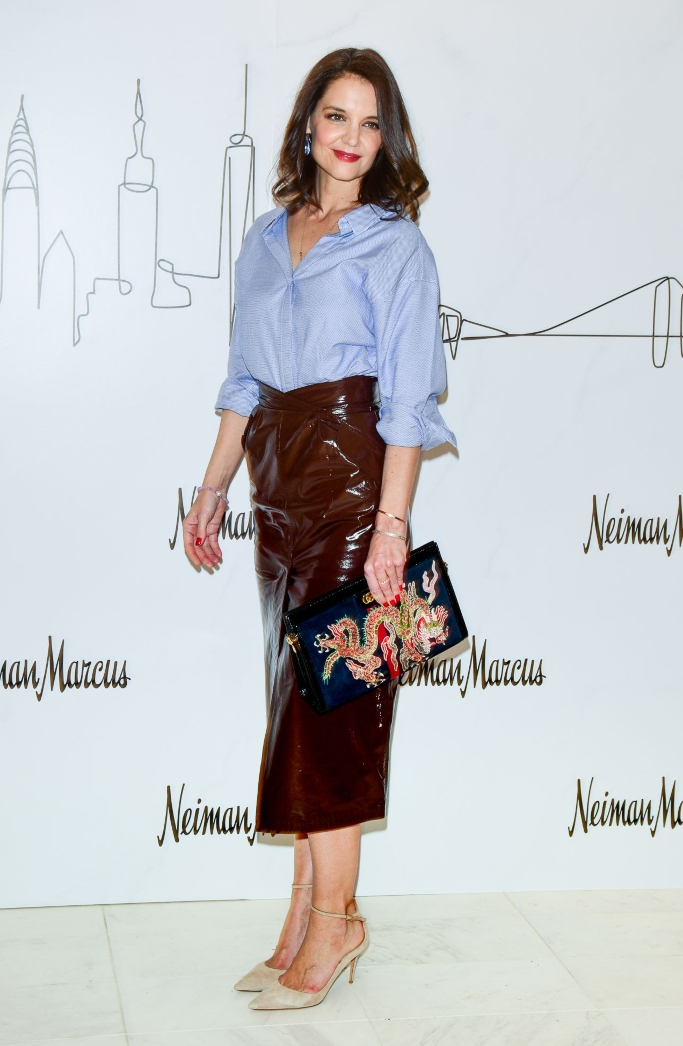 katie holmes, Neiman Marcus Hudson Yards Party