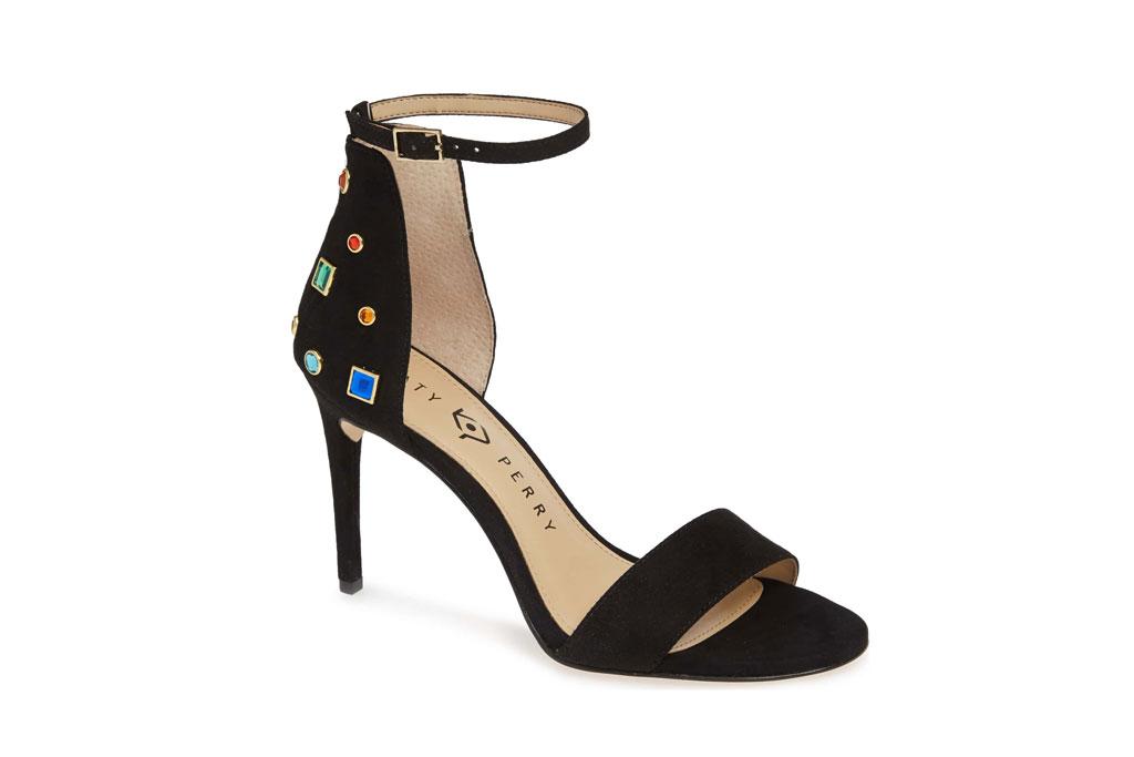 Katy Perry Jewel ankle-strap sandal.