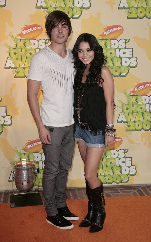 """Zac Efron and Vanessa HudgensNickelodeon's 2009 Kids' Choice Awards at the UCLA Pauley Pavillion, Los Angeles, America - 28 Mar 2009High School Musical 3: Senior Year"""" has received top marks at the Kids' Choice Awards. The Disney musical was selected as the favourite movie by audience votes at Nickelodeon's 22nd annual event. """"High School Musical"""" star Vanessa Hudgens was also selected as the favourite movie actress. However, it was the slime not the awards that was the most popular part of the evening. The show was kicked off by host Dwayne 'The Rock' Johnson zip-lining into a """"slime temple"""" and spraying goo over the audience. Over 90 million viewer votes were cast on Nickelodeon's website for this year's awards."""