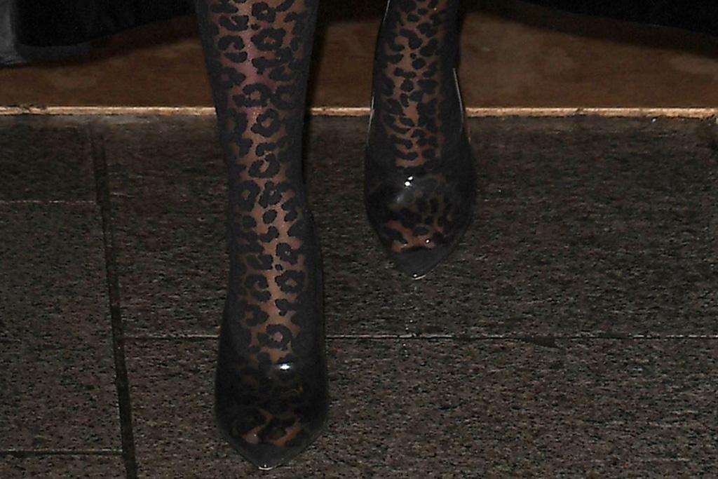 kim kardashian, clear heels, cheetah suit, Alaïa bodysuit, yeezy pvc heels