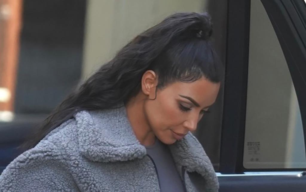 Kim Kardashian's in Yeezy's Boost 700