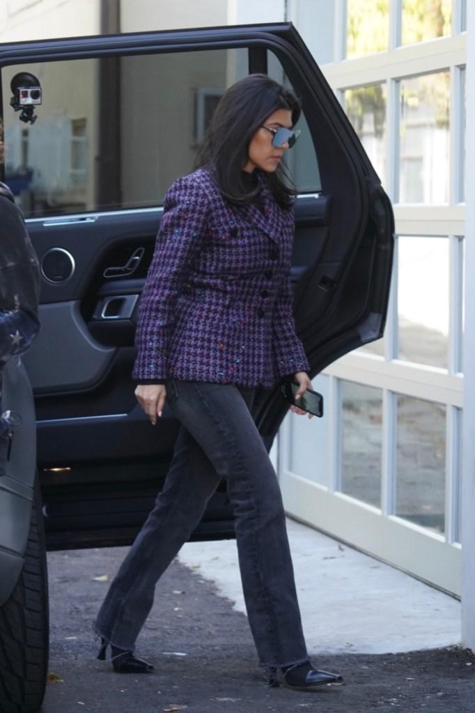 Kourtney Kardashian, celine madame ankle boots