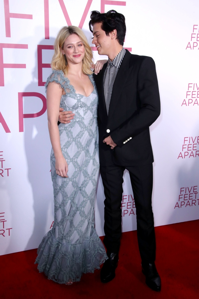 Lili Reinhart and Cole Sprouse, givenchy, brock collection