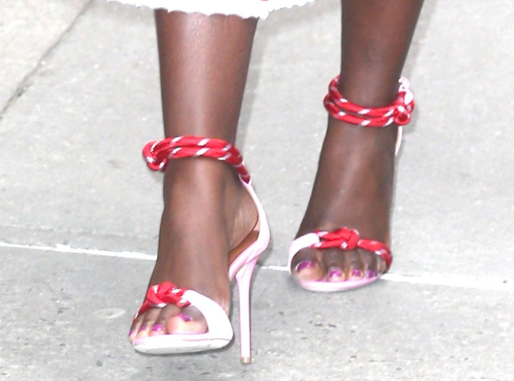 Lupita Nyong'o rope sandals