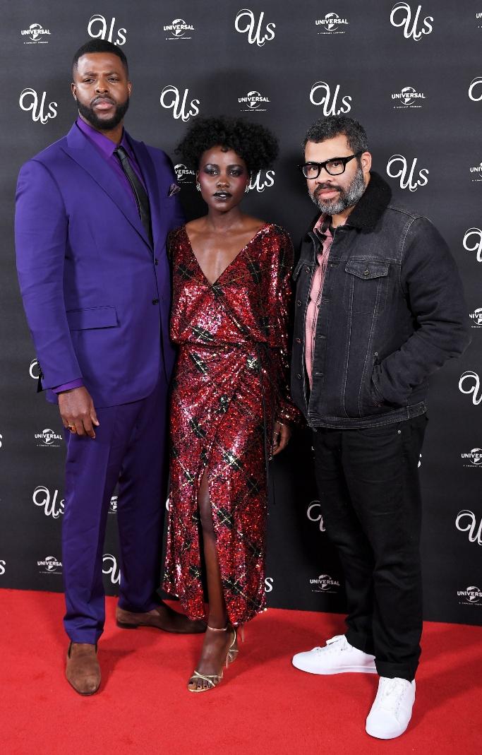 Lupita Nyong'o, jordan peele, Winston Duke, 'us' premiere