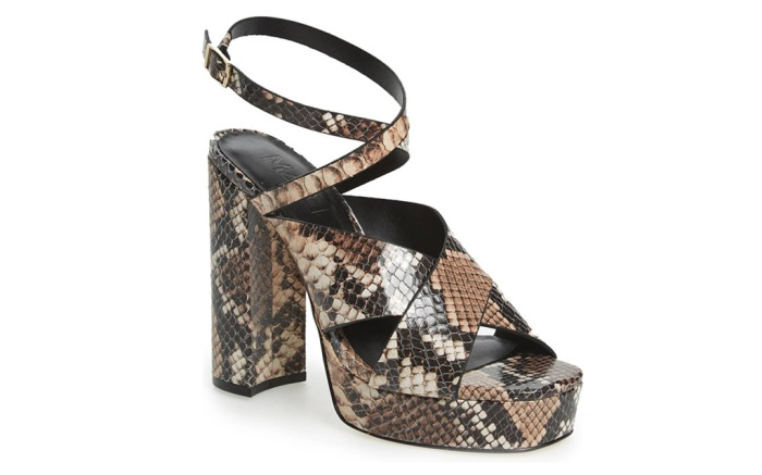 The M4D3 Prisilla Shoe, platform shoe, snakeskin, fall 2019 trends