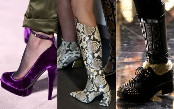 Shoe trends from Tom Ford, Marques'Almeida and Gucci fall 2019 runways.
