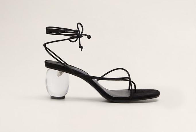 Mango see-through heel sandals