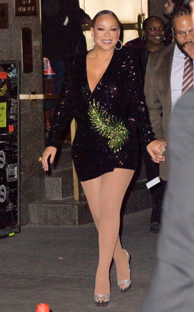 mariah carey, birthday, christian louboutin, heels, new york