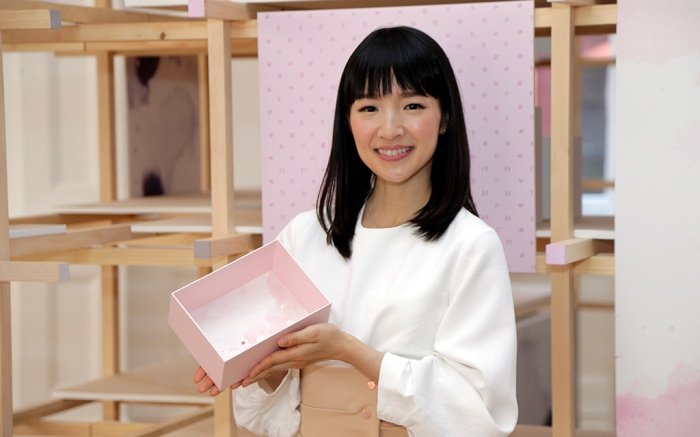 Marie Kondo poses for a picture during a media event in New YorkMarie Kondo, New York, USA - 11 Jul 2018