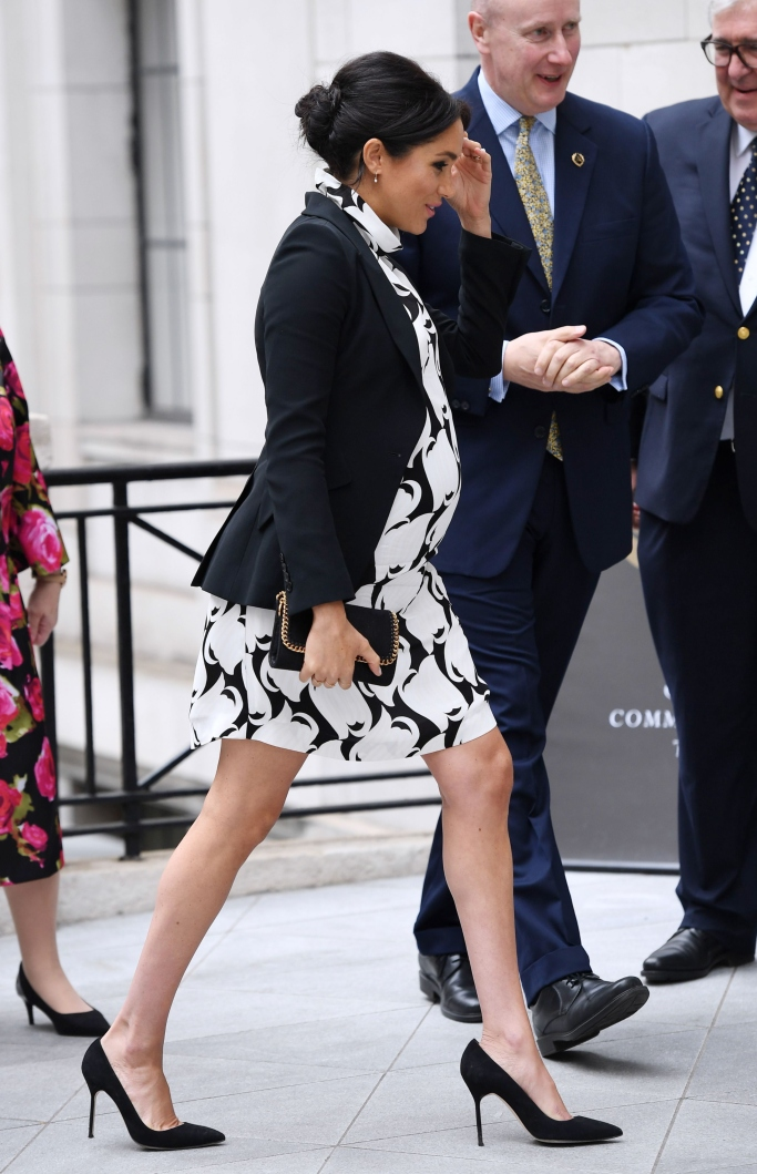 meghan markle, alexander mcqueen, stella mccartney, manolo blahnik bb pumps, reiss