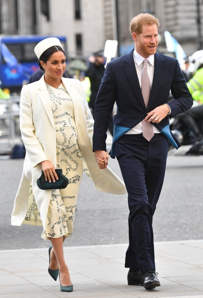 meghan markle, victoria beckham fall 2019 dress, commonwealth day