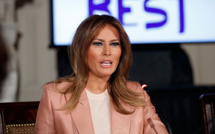 US First Lady Melania Trump attends an interagency working group on youth programs, Washington, USA – 18 Mar 2019