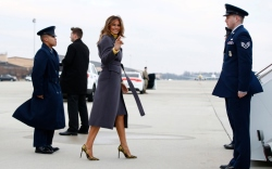 Melania Trump in Manolo Blahnik BB Pumps