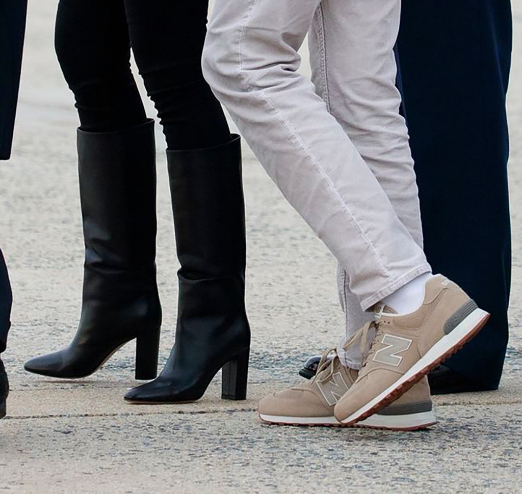 Donald Trump, gianvito rossi boots, new balance sneakers, Melania Trump, Barron Trump. President Donald Trump, first lady Melania Trump and their son Barron Trump, arrive on Air Force One, in Andrews Air Force Base, Md., en route to Washington as they return from Palm Beach, FlaTrump, Andrews Air Force Base, USA - 10 Mar 2019