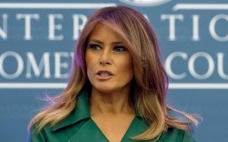 First lady Melania Trump speaks at
