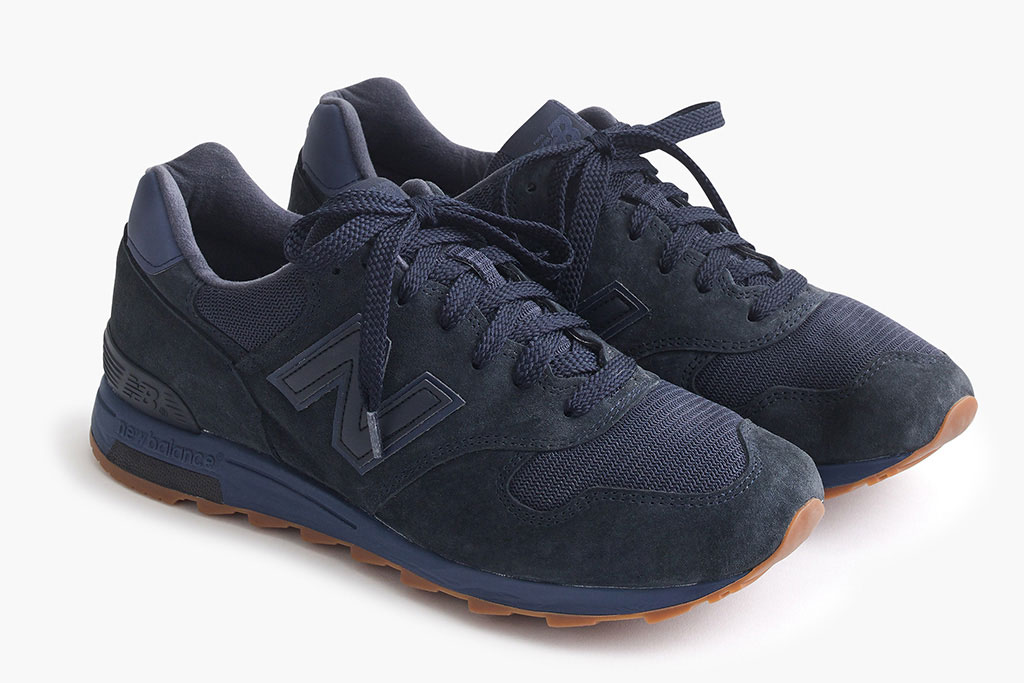 J.Crew x New Balance 1400 in Midnight Navy.